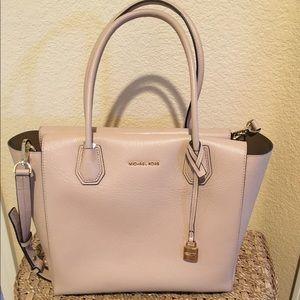 394685680366 Michael Kors Bags - Michael Kors Mercer Large Bonded Leather Satchel