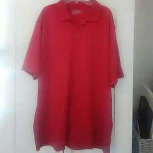 Nike Other - Nike dri-fit golf polo red