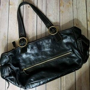 Francesco Biasia Handbags - FRANCESCO BIASIA black leather bag