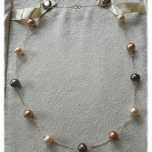 Honora Jewelry - 💕💕HONORA MULTI COLORED PEARLS ON 14K GOLD CHAIN