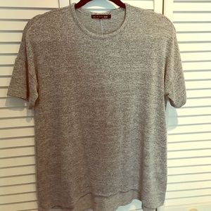 rag and bone grey soft swingy tee sz small