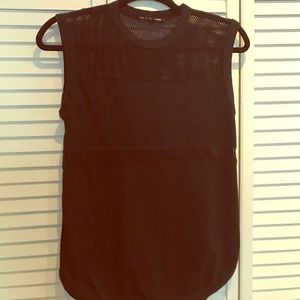 rag and bone black tee with mesh size small