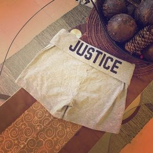 "Justice Other - SPARKLY ""JUSTICE"" YOGA SHORTS!"