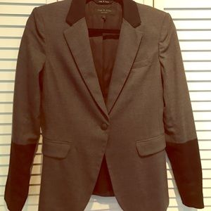 rag and bone grey wool blazer size 2