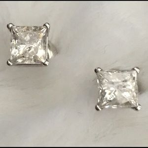 Zales Jewelry - 1 CT. T.W. Princess Cut Diamond Solitaire Stud 14k