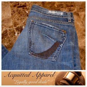 "James Jeans Denim - [James] Jeans Titan Flare Leg 31"" Inseam"