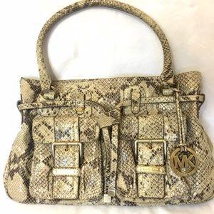 Michael Kors Handbags - Micheal Kors Alligator Print Leather HandBag