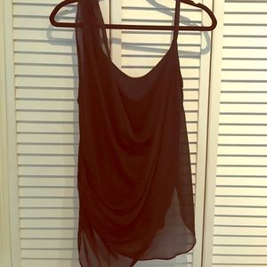 Helmut Lang chiffon top size medium