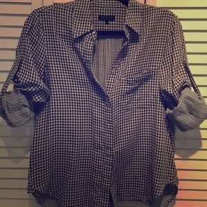 rag and bone plaid button up size small
