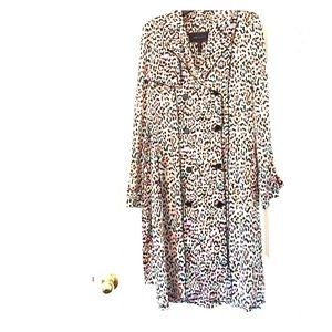 BCBGMaxAzria Dresses & Skirts - BCBGMAXAZRIA  leopard print dress\trench coat.