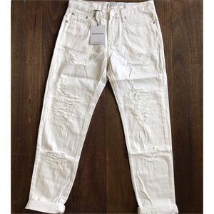 ASOS Denim - NWT Glamorous White Distressed Jeans