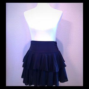 Dresses & Skirts - Two Tiered Black Mini Skirt