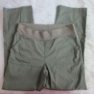 Motherhood Maternity Pants - Maternity Army Green Wide Leg Pants Md
