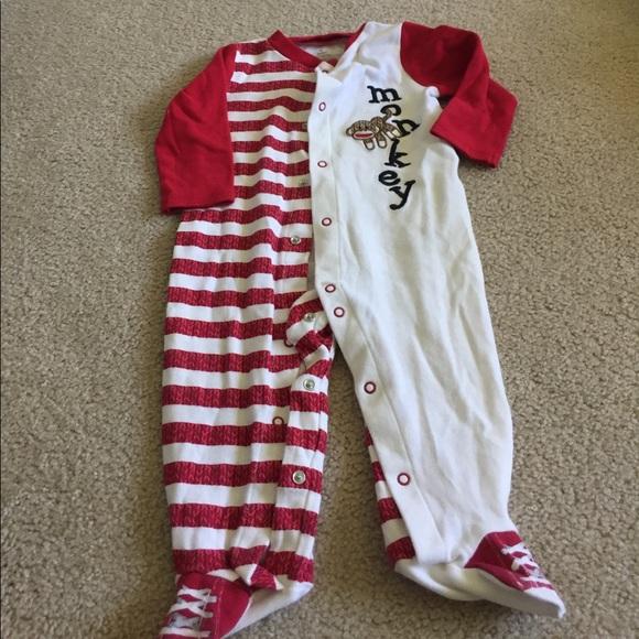 Baby Starters Pajamas Cracker Barrel Monkey Pajama One Piece 9mo