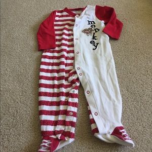 Baby Starters Other - Cracker Barrel monkey pajama one piece 9mo.