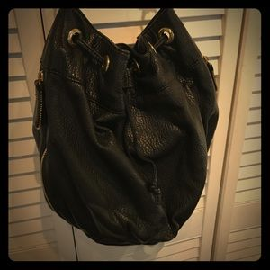 Deux Lux black bucket bag