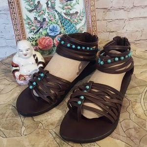 JP and Mattie ARHAUS Shoes - Gladiator Sandals JP and Mattie for Arhaus NWOT