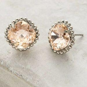 Sorrelli Jewelry - Sorrelli | Peach and silver cushion cut studs