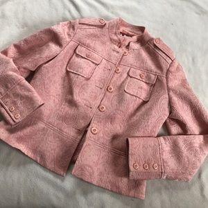 Tapemeasure Jackets & Blazers - Tapemeasure Blush Pink Brocade Tailored Jacket