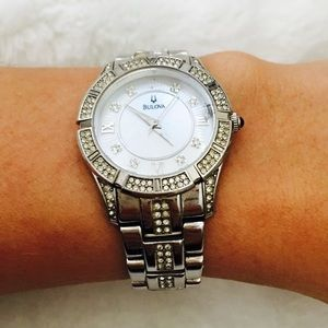 Bulova Crystal Accent with Mother-of-Pearl Watch