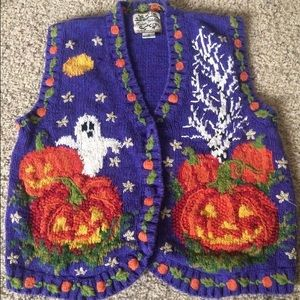 Heirloom Collectibles Jackets & Blazers - Tacky Halloween knit women's sweater vest ugly