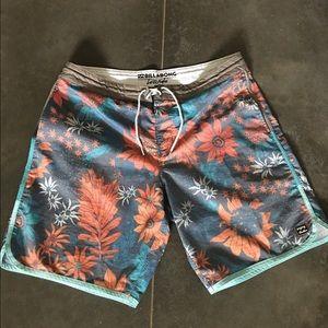 Mens billabong swim trunks board shorts