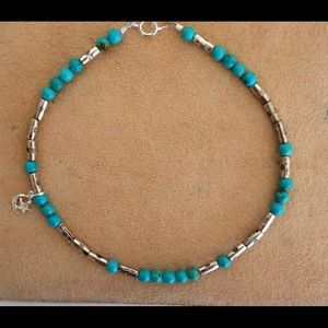Jewelry - 🌙✨ Gemstone Anklet with Moon Charm