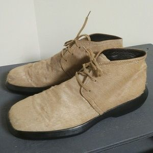 Tod's Shoes - SUPER RARE Tods calf hair lace up ankle boots.