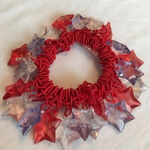 Accessories - Red, white and blue ponytail holder