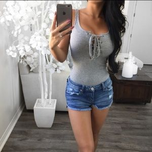 🆕️ SANDY Simple Blue Buff Denim Shorts