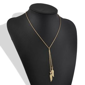 BellaFree Jewelry - ☀️ SUMMER Must Have. Twin Feather Gold Necklace
