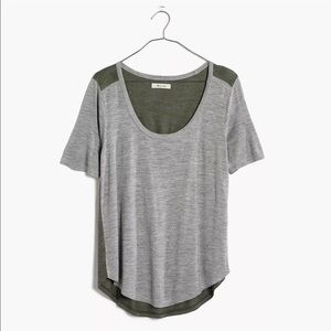 Madewell Anthem Scoop Elbow-sleeve Colorblock Tee