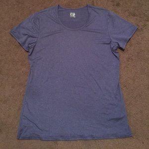 Weatherproof Tops - Purple workout t-shirt