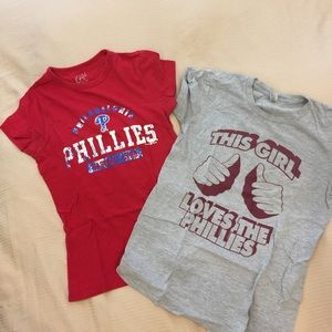 other Tops - Girly Phillies t-shirts