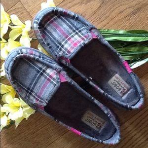 🎀Skecher's/BOBS🎀 Shoes - 🎀BOBS/Skecher's Flexy Plaid Comfort Flat🎀NWOT🎀
