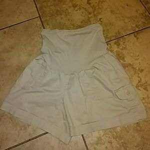 Pants - Womens sz S Motherhood maternity khaki shorts!