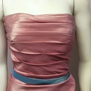 Simply Perfect Dresses - Strapless Coral Dress-1976