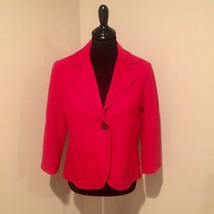 Anne Klein Jackets & Blazers - Anne Klein red jacket with black stitching