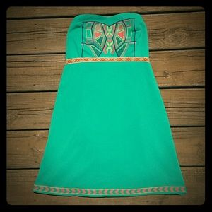 Flying Tomato Dresses & Skirts - Strapless Dress w/ Tribal Print
