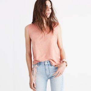 Madewell whisper cotton crew tank!!