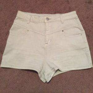 BDG Pants - BDG off-white high waisted shorts