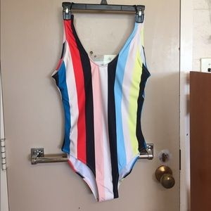 Cupshe Other - Cupshe vintage striped backless one piece