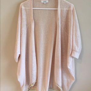 umgee Sweaters - Frilly Cream Cardigan