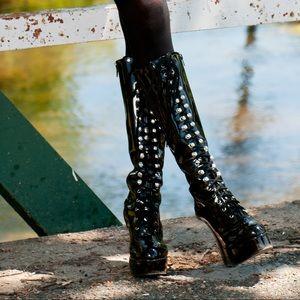 ellie Shoes - Platform Boots with Laces