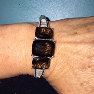 Jewelry - New Smokey Quartz (20.60Ct)& White Topaz Bracelet