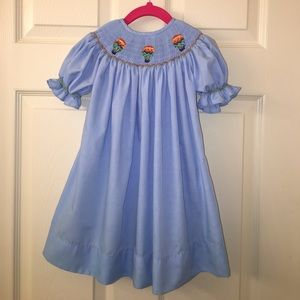 Dibble Dabble Other - Girls HOT AIR BALLOON Smocked Bishop Dress sz 18M
