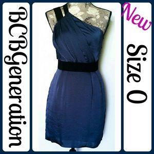 BCBGeneration Dresses & Skirts - Sz 0 New BCBG formal one shoulder mini dress