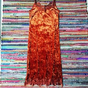 Band of Gypsies Dresses & Skirts - NWOT Maxi DRESS crushed velvet copper lace Stretch
