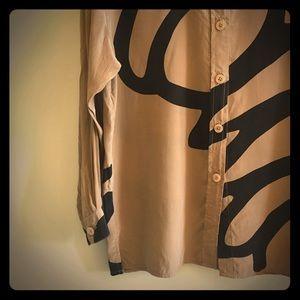  Vintage Diane Von Furstenberg Silk Blouse