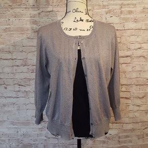 Cable & Gauge Sweaters - Cable & Gauge Light Weight 3/4 Length Cardigan